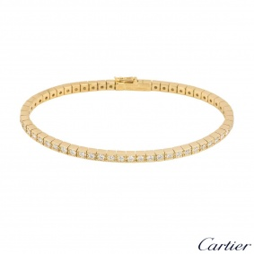 Cartier Yellow Gold Lanieres Diamond Bracelet